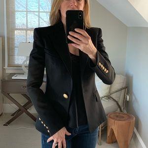 NWT Balmain gold buttoned blazer